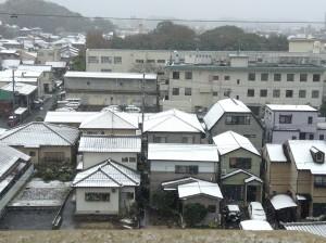 名古屋市緑区で雪が・・・冷えないようにご注意を!